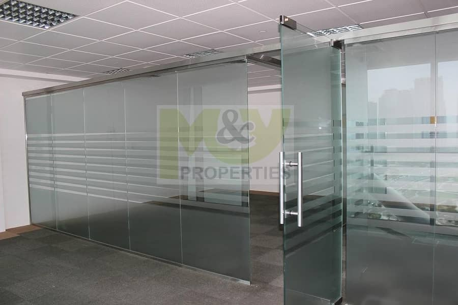 Fully Fitted Office for rent with Glass Partition in JLT