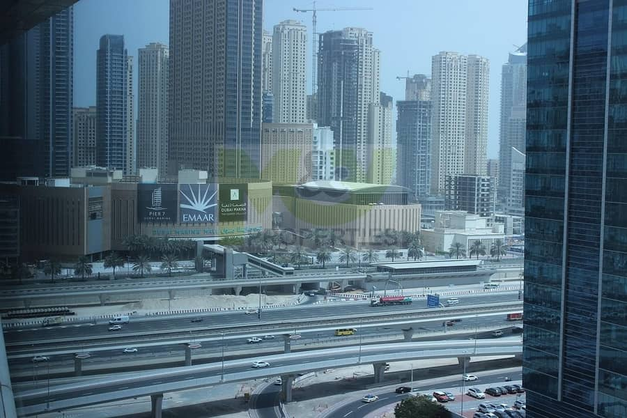 8 Fully Fitted Office for rent with Glass Partition in JLT