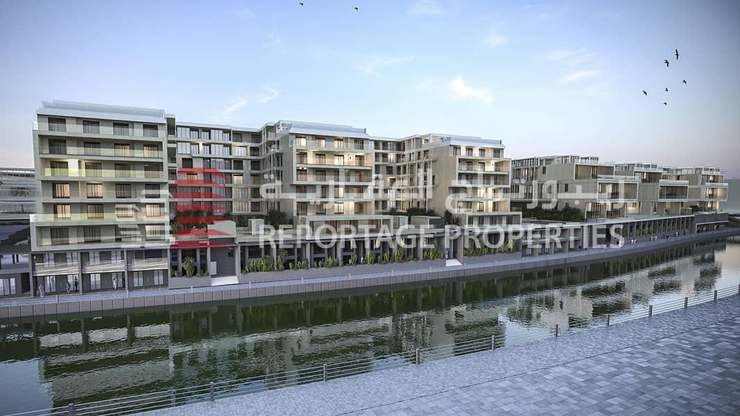 شقةدوبلكس واسعة و رائعة مع إطلالة مبهرة على قناة المياه في شاطىء الراحة