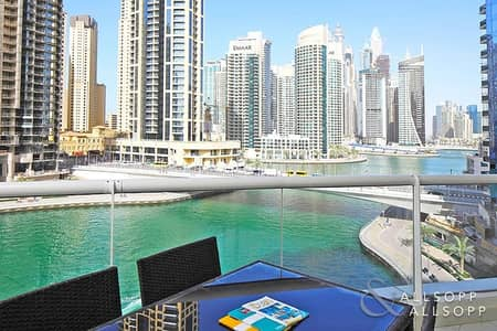 2 Bedroom Flat for Rent in Dubai Marina, Dubai - Full Marina View | Large Terrace | 2 Bed