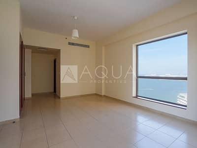 2 Bedroom Flat for Sale in Jumeirah Beach Residence (JBR), Dubai - Unfurnished 2 Beds with Perfect Sea View | Vacant