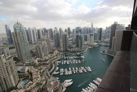 1 Bedroom Apartment for Rent in Dubai Marina, Dubai - Full Port & Marina View - Chiller Free - Vacant now