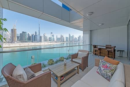 3 Bedroom Townhouse for Sale in Business Bay, Dubai - Burj and Canal View   3BR Townhouse Plus TV Lounge