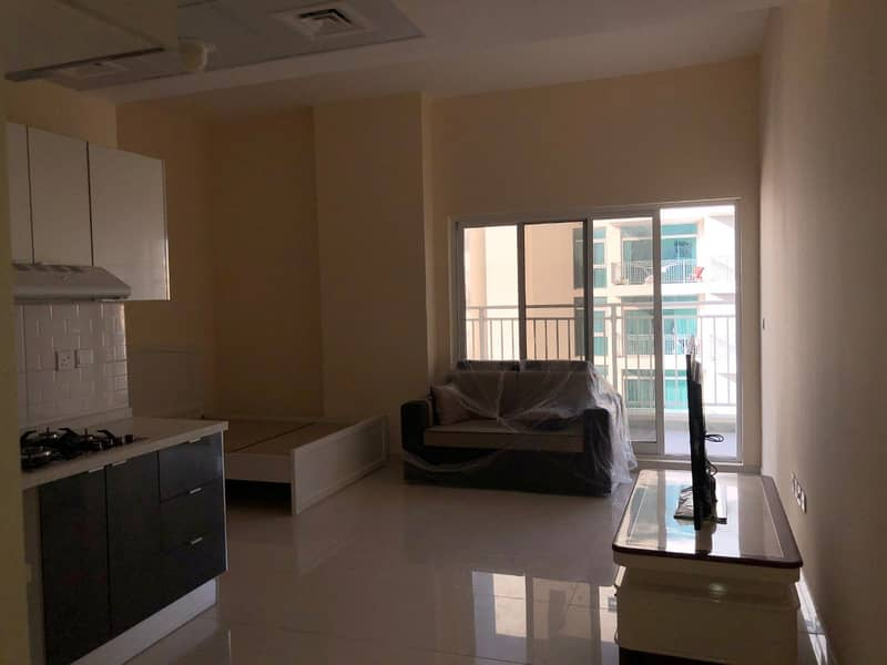 12 BRAND NEW SEMI FURNISHED STUDIO WITH BALCONY  FOR RENT IN  AL WARSAN 4