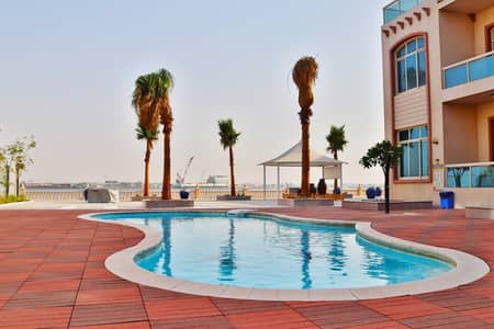 2 Bedroom Apartment for Rent in Between Two Bridges (Bain Al Jessrain), Abu Dhabi - amazing huge 2 bedrooms with terrace, sea view and swimming pool