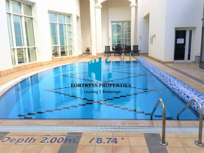 3 Bedroom Apartment for Rent in Tourist Club Area (TCA), Abu Dhabi - Stunning Serenity With Sea View | 3BHK w/ Maidsroom & Complete AMENITIES!