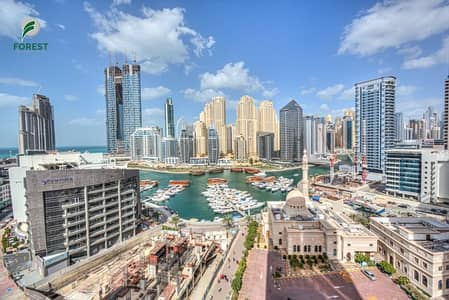 1 Bedroom Flat for Rent in Dubai Marina, Dubai - Amazing Marina View | Fully Furnished 1BR | Vacant
