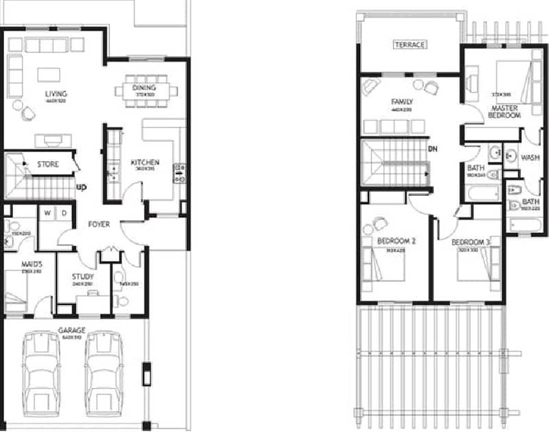 10 Three Bedroom | Single Row | Maid's Room