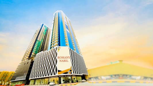 2 Bedroom Flat for Rent in Al Rashidiya, Ajman - Brand New Apartment for Rent in Oasis Tower // SEA VIEW (2 BHK)