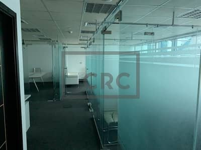 Office for Rent in Jumeirah Lake Towers (JLT), Dubai - Fully Fitted   Glass Partitioned   Low Floor
