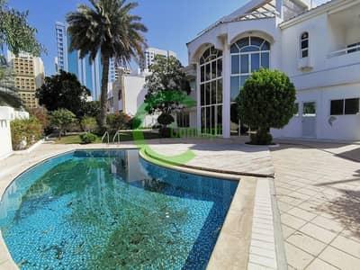 فیلا 4 غرف نوم للايجار في الخالدية، أبوظبي - Luxury laden villa  Nicely finished  Private pool