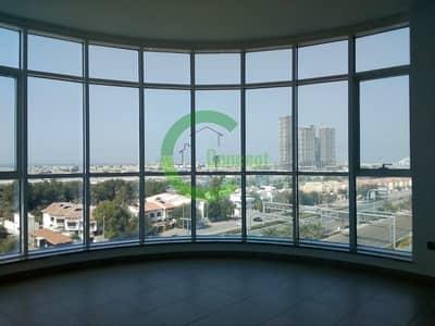فلیٹ 3 غرف نوم للايجار في منطقة النادي السياحي، أبوظبي - Full sea views  Nicely finished with a maid room