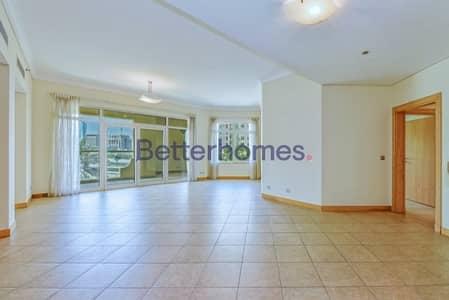 فلیٹ 3 غرف نوم للايجار في نخلة جميرا، دبي - Spacious | Maid's room | Low floor | Community view