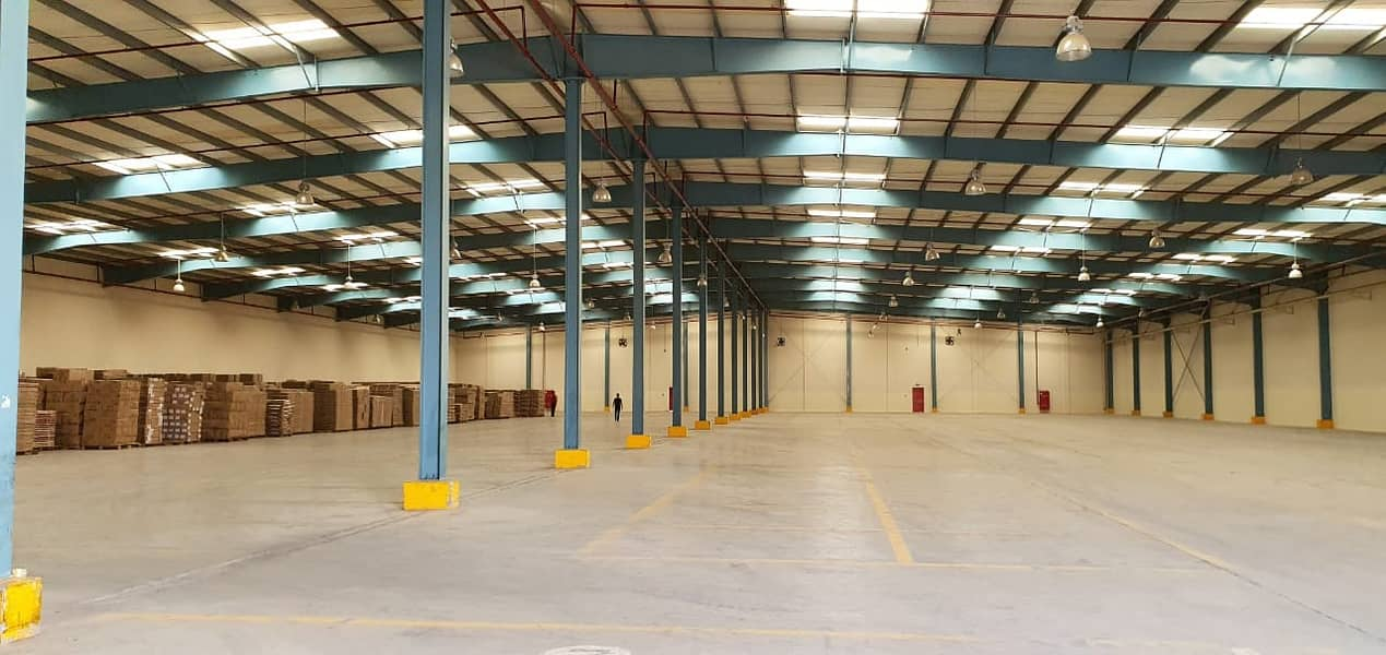 62,500 square feet warehouse with high power electricity connected available in Al Sajja industrial area, Sharjah
