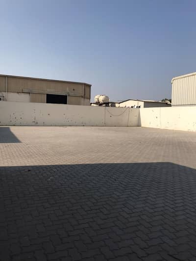 Open Yard  with office 5,000 SQ/Ft with boundary wall and gate in Industrial No:11 -Sharjah