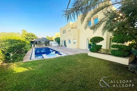 5 Bedroom Villa for Sale in Arabian Ranches, Dubai - Golf Course View | Stunning Pool | 5 Beds