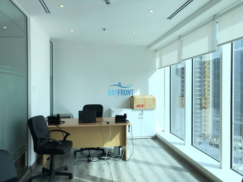 2 Bright Office with Glass Partitions @ Burlington