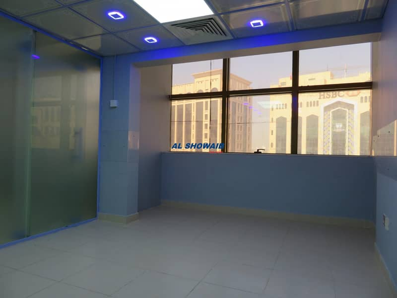6 1100 Sq ft office space opp HSBC bank Burdubai
