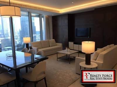 فلیٹ 3 غرف نوم للايجار في وسط مدينة دبي، دبي - CORNER UNIT | FULLY FURNISHED | BURJ & SER VIEW