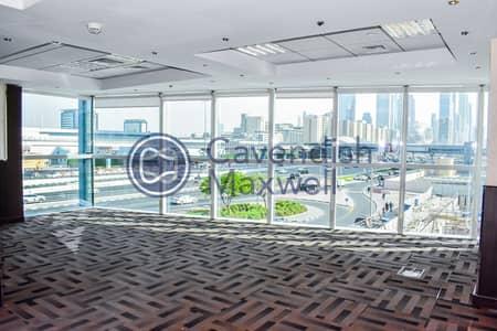 مکتب  للايجار في شارع الشيخ زايد، دبي - Parquet Flooring | Bright | Grade A Tower