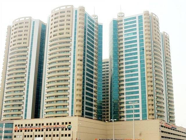office Big size  in Horizon tower for sale 1297sqft with partition  with parking in ajman