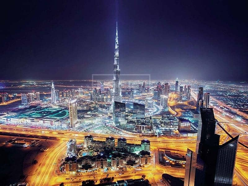 18 2-Bed | Sem- Furnished | Burj Khalifa View