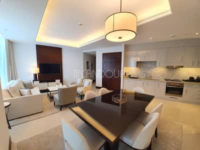 2 Bedroom Apartment for Rent in Downtown Dubai, Dubai - High Floor   Fully Furnished   Sea Views   2 Beds