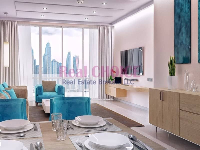 2 Amazing View Of 1 BR Hotel Apartment|Furnished