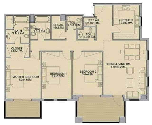 10 3 Bedrooms Plus Maids   Upgraded Kitchen