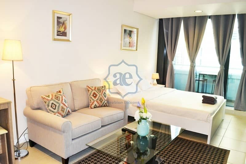 2 Cheap deal! Studio apartment for rent with balcony