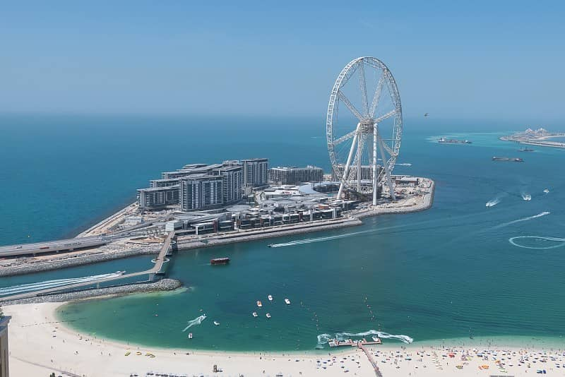2 Renovated 2 Beds with Full Sea and Dubai Eye Views