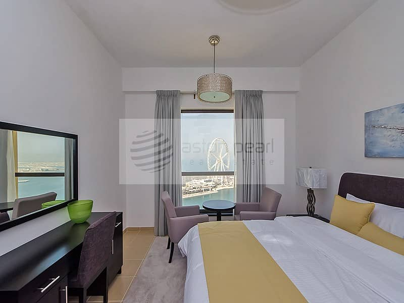 Renovated 2 Beds with Full Sea and Dubai Eye Views