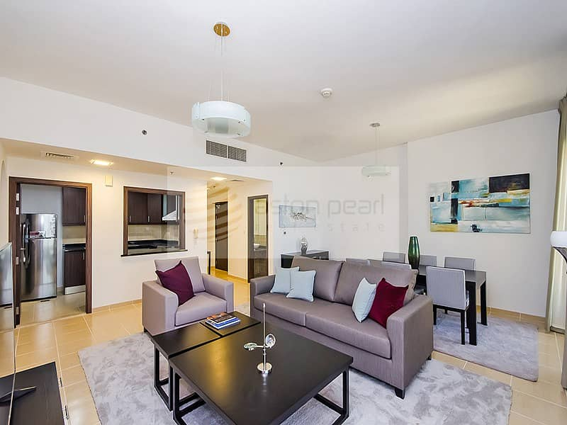 10 Renovated 2 Beds with Full Sea and Dubai Eye Views