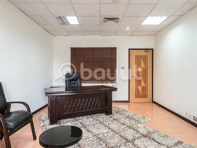 Office for Rent in Deira, Dubai - CHILLER free|Furnished|Includes DEWA&Wifi| No Ejari Fee|1 month free on single payment|Near Airport Terminal1|Walking Distance to Metro