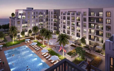 3 Bedroom Apartment for Sale in Al Mamzar, Sharjah - Maryam Island the only waterfront property in the heart of sharjah , offering uninterrupted