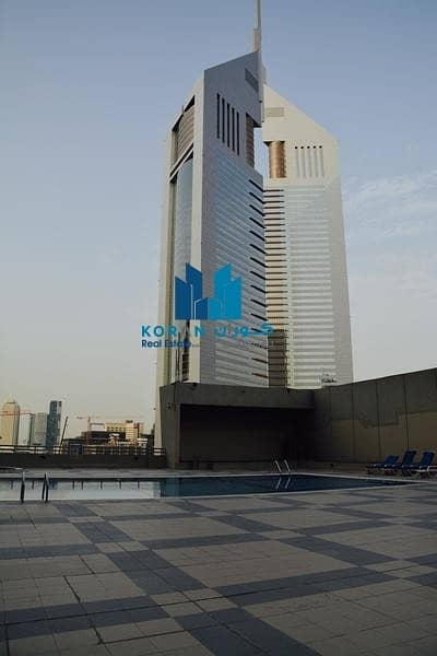 1 Bedroom Flat for Rent in Sheikh Zayed Road, Dubai - HUGE 500 SQFT STUDIO WITH BALCONY PARKING AND CLOSE KITCHEN NEAR FAHIDIMETRO NEAR KHALIJ CENTRE 33K