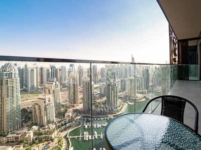 2 Bedroom Flat for Sale in Dubai Marina, Dubai - Fully Furnished | Full Marina View on High Floor