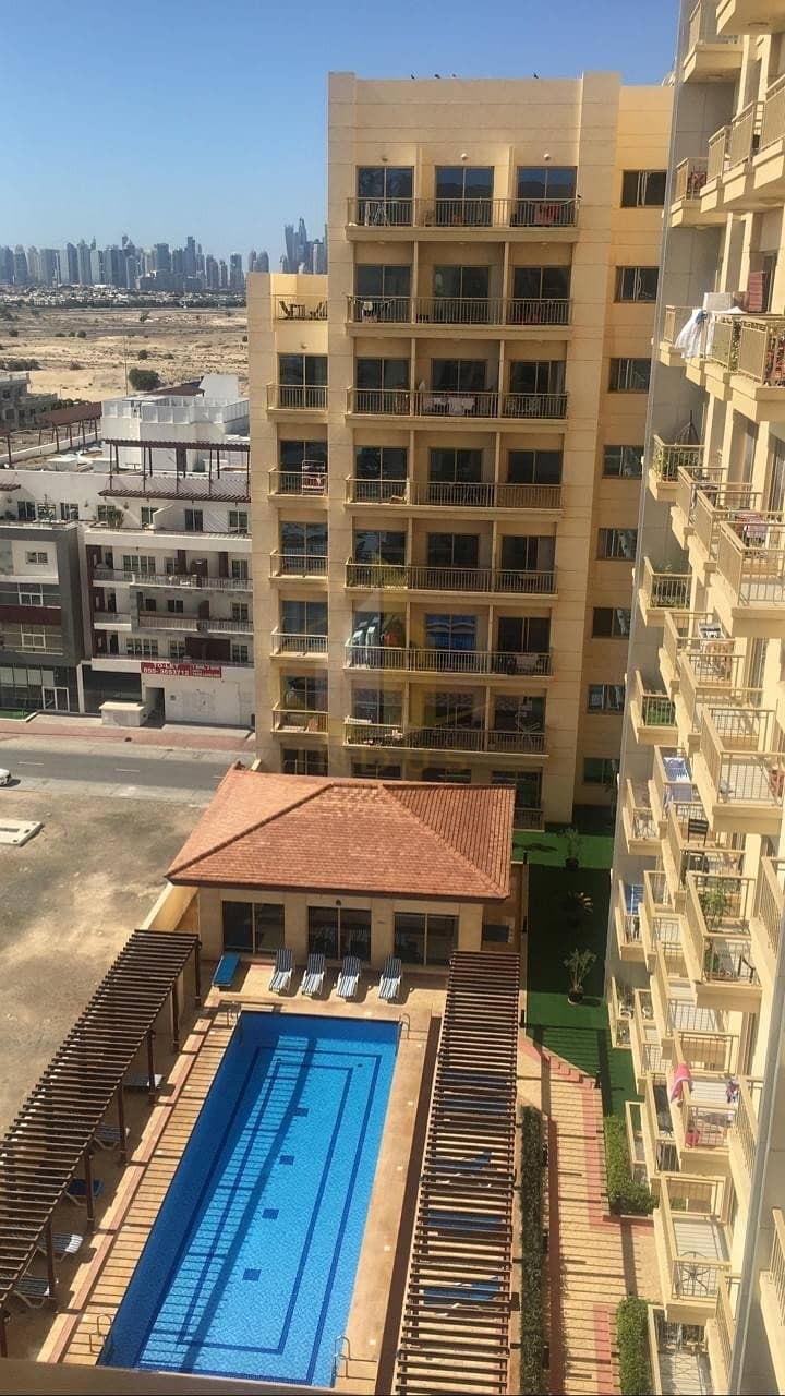 Spacious | Well Maintained | 1BR | Pool View