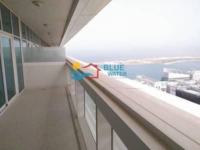 1 Bedroom Flat for Rent in Al Khalidiyah, Abu Dhabi - No Fee | Balcony | Facilities | Sea View