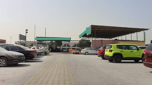 Plot for Rent in Industrial Area, Sharjah - 30000 sq ft Open land with existing service station for rent in Industrial area 5, Sharjah