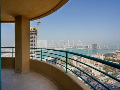 2 Bedroom Apartment for Rent in Dubai Marina, Dubai - Full Sea View | Unfurnished | Chiller Free