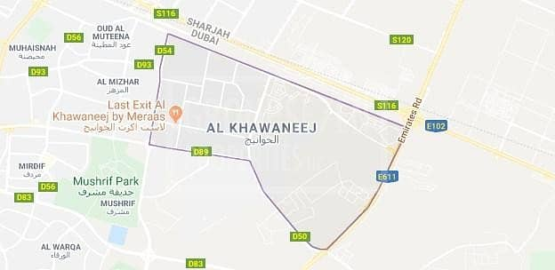 5 120000sqfts land with three palaces in Khawaneej