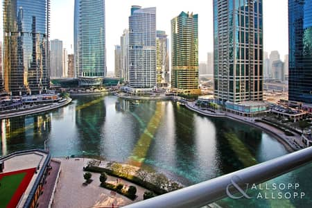1 Bedroom Flat for Sale in Jumeirah Lake Towers (JLT), Dubai - One Bed | Complete Lake Views | Mid Floor