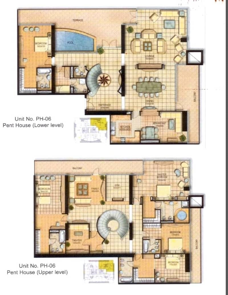 10 5 Bed   Duplex Penthouse   Private Pool