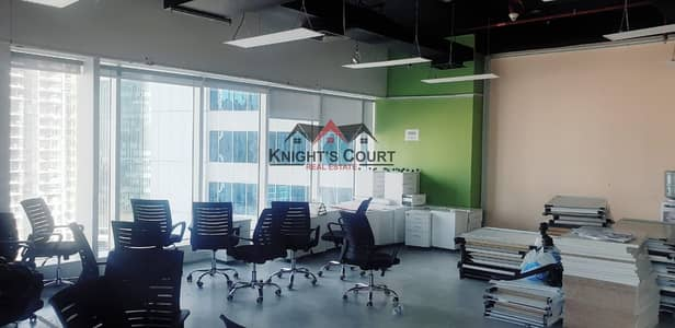 Office for Rent in Business Bay, Dubai - Well Located Office Fitted On A High Floor