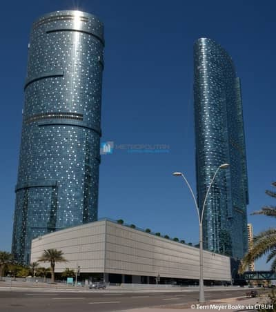 Office for Sale in Al Reem Island, Abu Dhabi - Shell & Core Office w/ Partial Sea View
