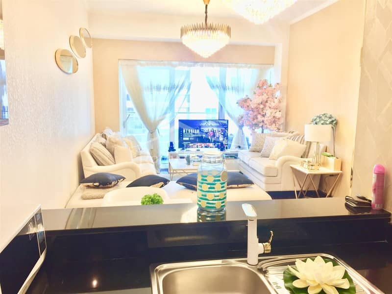 2 THE BEST | 1BR | Golden-upgraded in Damac Heights