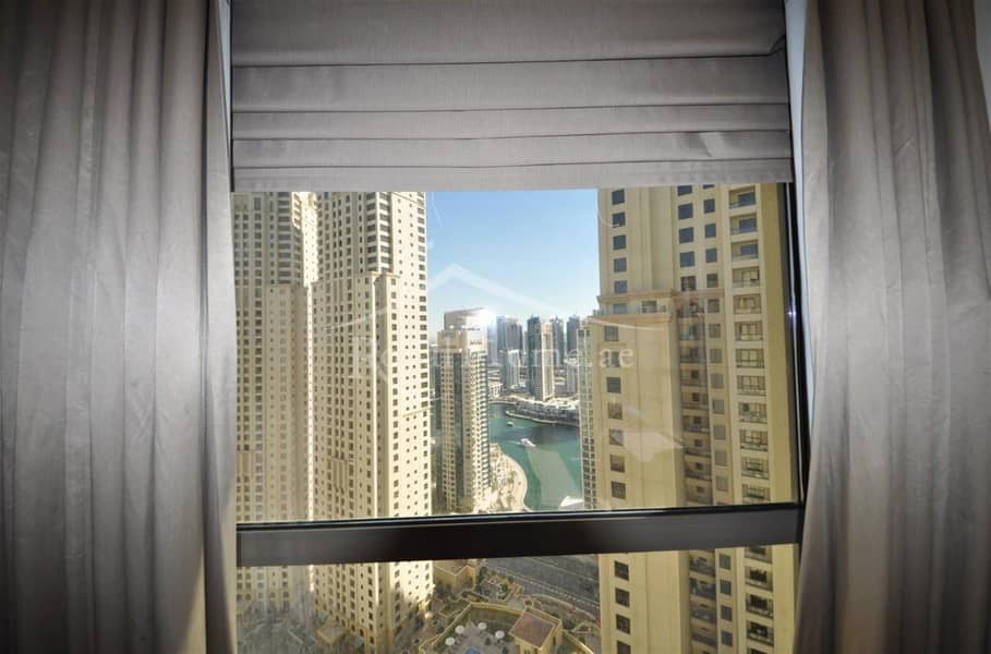 2 1BR Converted into 2BR | Marina View | Mid floor