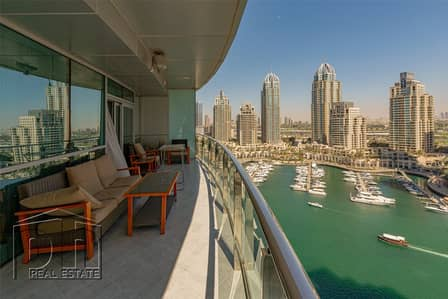 1 Bedroom Apartment for Sale in Dubai Marina, Dubai - | Low Floor |Full Marina View|1054 sq ft