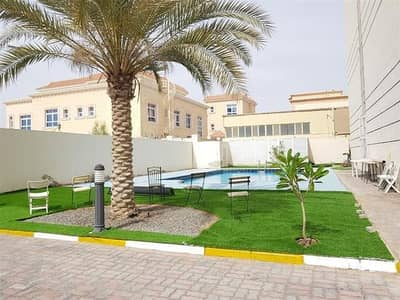 1 Bedroom Apartment for Rent in Khalifa City A, Abu Dhabi - Ground Floor  One Bedroom with Balcony Garden View and Shared Pool within Compound